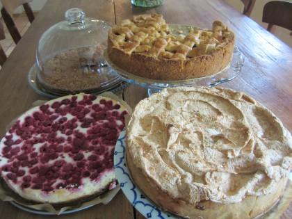 zelfgebakken taarten